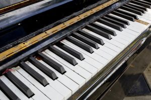 Piano with Stuck Key